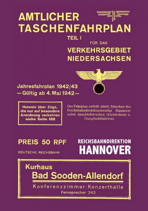 Amtlicher Taschenfahrplan Niedersachsen 1942