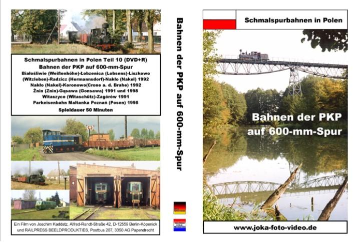 DVD: Schmalspurbahnen in Polen. Bahnen der PKP auf 600-mm-Spur