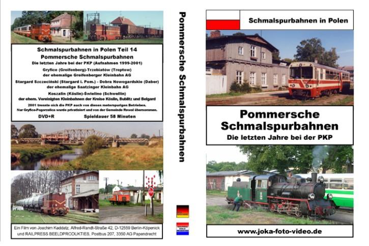 DVD: Schmalspurbahnen in Polen. Pommersche Schmalspurbahnen - Die letzten Jahre bei der PKP