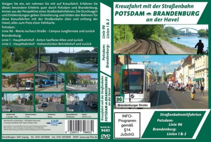 DVD: Potsdam & Brandenburg an der Havel - Kreuzfahrt mit der Straßenbahn - Straßenbahnmitfahrten