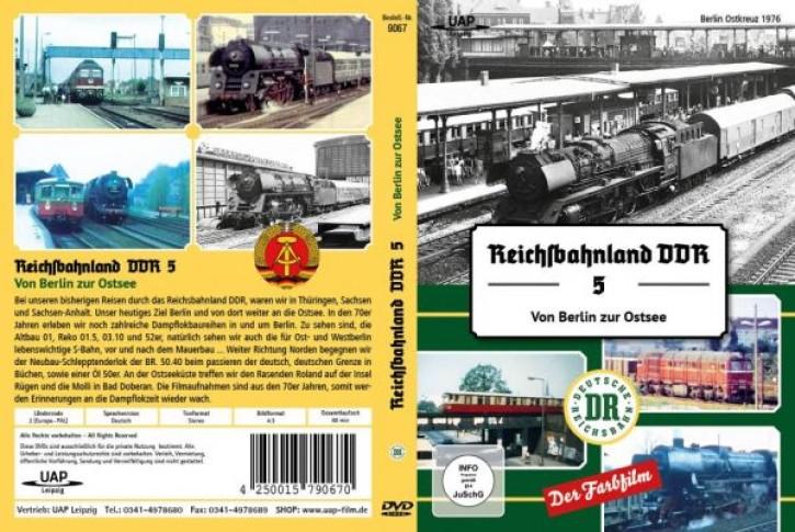 DVD: Reichsbahnland DDR Vol. 5 - Von Berlin an die Ostsee in Farbe