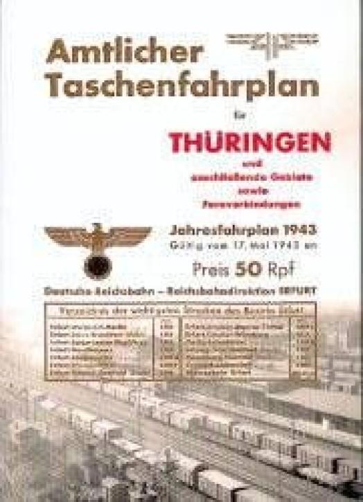 Amtlicher Taschenfahrplan für Thüringen, Jahresfahrplan 1943