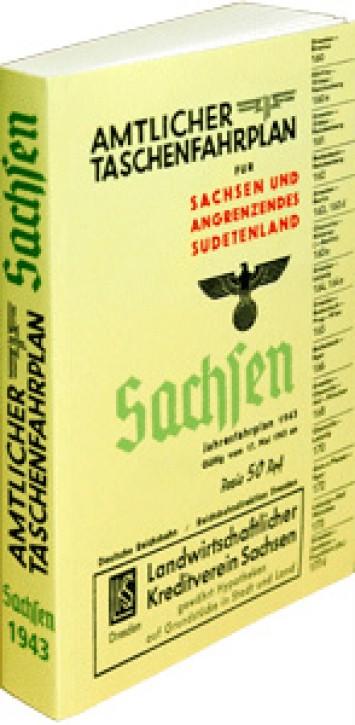 Amtlicher Taschenfahrplan Sachsen und angrenzende Sudetenland. Jahresfahrplan 1943