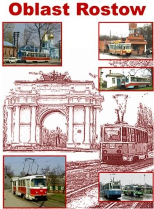 DVD: Straßenbahnen in Russland Teil 6. Oblast Rostow