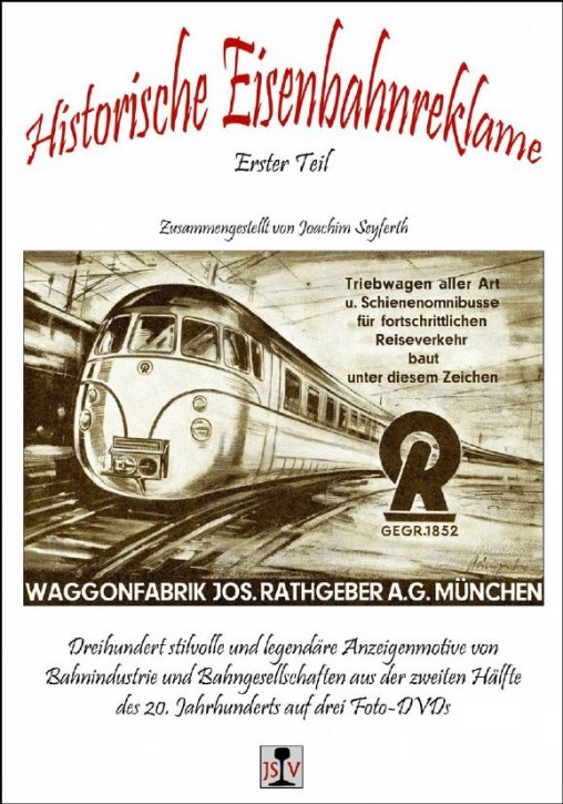 Foto-DVD: Historische Eisenbahnreklame. Erster Teil
