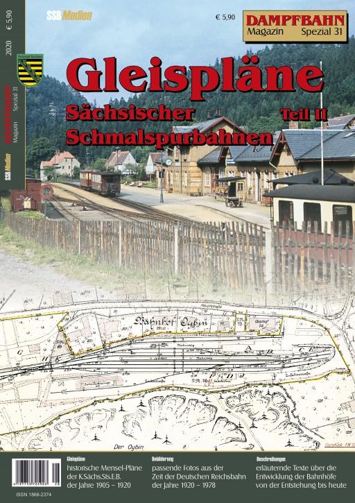 Dampfbahn-Magazin Spezial 31: Gleispläne Sächsischer Schmalspurbahnen Teil 2