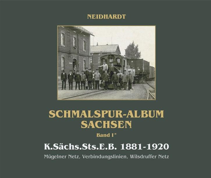 Schmalspur-Album Sachsen Band 1.2 - K.Sächs.Sts.E.B. 1881-1920. Mügelner Netz, Verbindungslinien, Wilsdruffer Netz