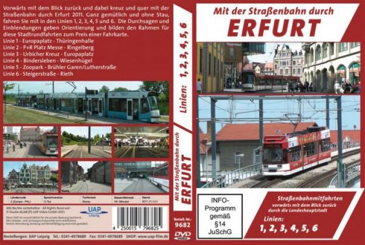 DVD: Mit der Straßenbahn durch Erfurt. Straßenbahnmitfahrten Linien 1, 2, 3, 4, 5, 6