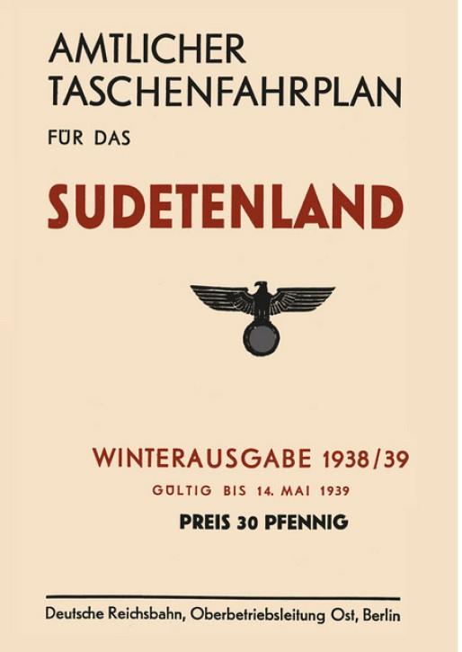 Amtlicher Taschenfahrplan für das Sudetenland 1938/39