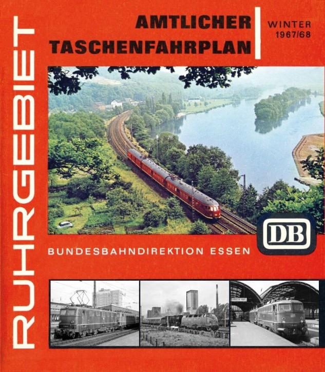 Amtlicher Taschenfahrplan Winter 1967/68 der Bundesbahndirektion Essen, Reprint