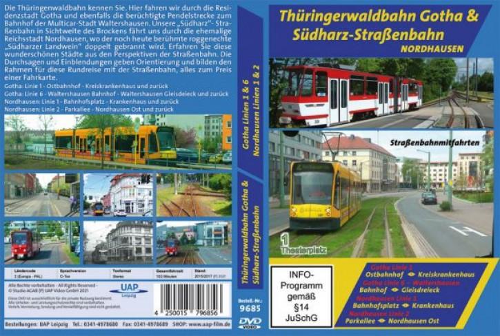 DVD: Thüringerwaldbahn Gotha & Südharz-Straßenbahn Nordhausen