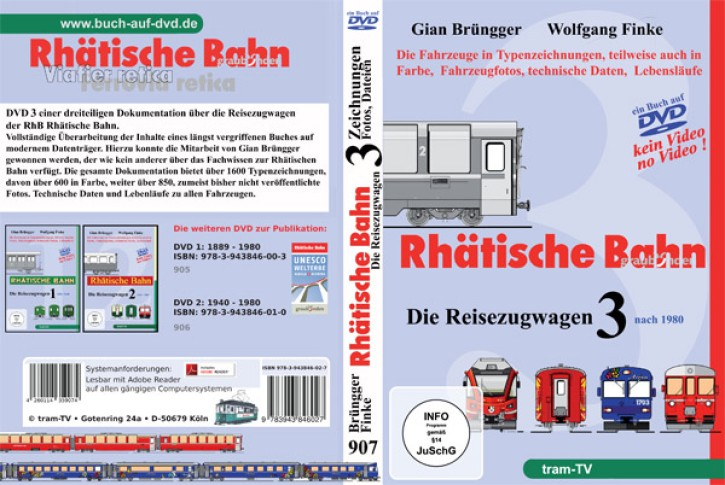 Rhätische Bahn Reisezugwagen 2 (Buch auf DVD): Die Jahre 1940-1980. Gian Brüngger und Wolfgang Finke