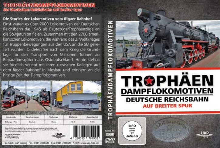 DVD: Trophäendampflokomotiven der Deutschen Reichsbahn auf breiter Spur