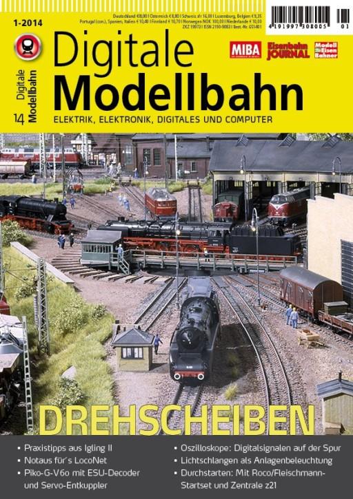 Digitale Modellbahn Heft 1-2014. Drehscheiben