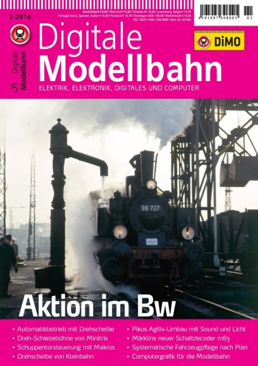 Digitale Modellbahn 2-2014. Aktion im Bw