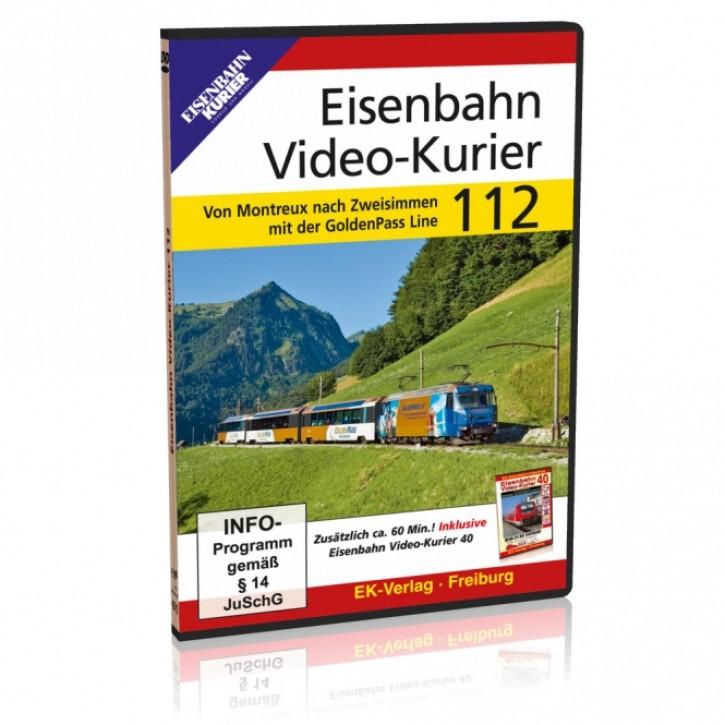 DVD: Eisenbahn Video-Kurier 112. Von Montreux nach Zweisimmen mit der GoldenPass Line