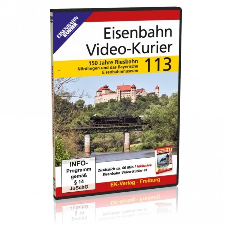 DVD: Eisenbahn Video-Kurier 113. 150 Jahre Riesbahn - Nördlingen und das Bayerische Eisenbahnmuseum
