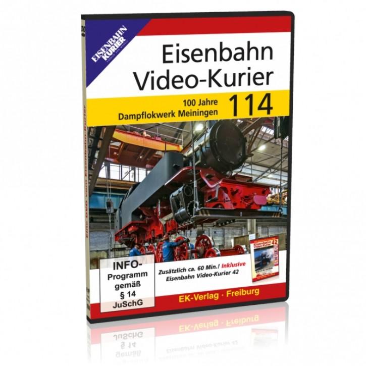 DVD: Eisenbahn Video-Kurier 114. 100 Jahre Dampflokwerk Meiningen