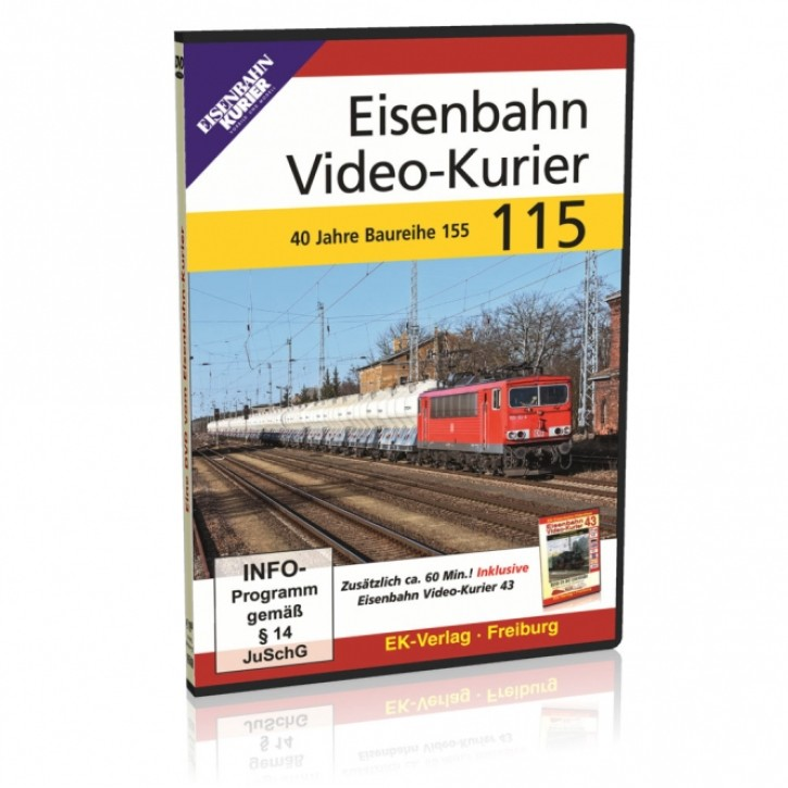DVD: Eisenbahn Video-Kurier 115. 40 Jahre Baureihe 155