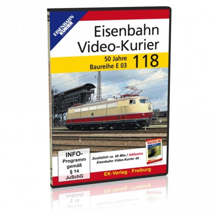 DVD: Eisenbahn Video-Kurier 118. 50 Jahre Baureihe E 03
