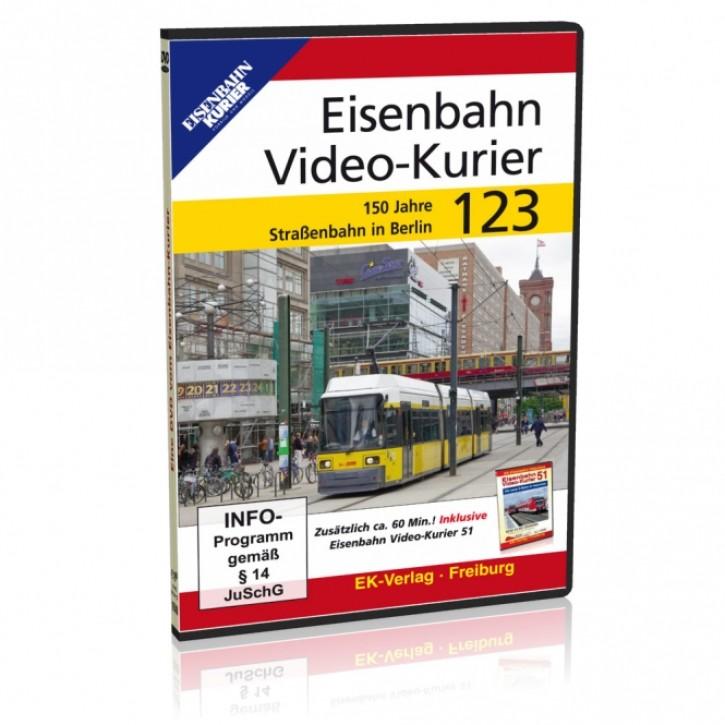 DVD: Eisenbahn Video-Kurier 123. 150 Jahre Straßenbahn in Berlin
