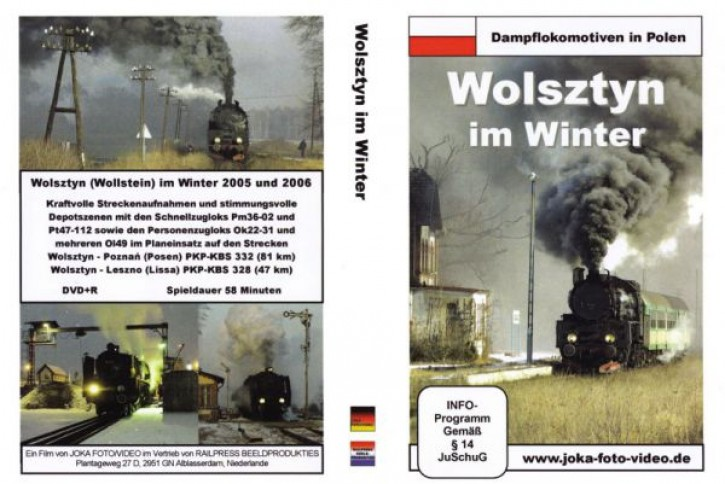 DVD: Dampflokomotiven in Polen. Wolsztyn im Winter
