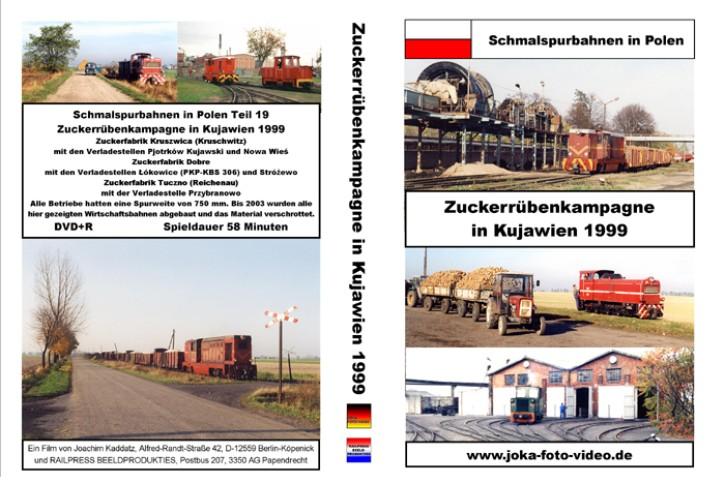 DVD: Schmalspurbahnen in Polen. Zuckerrübenkampagne in Kujawien 1999